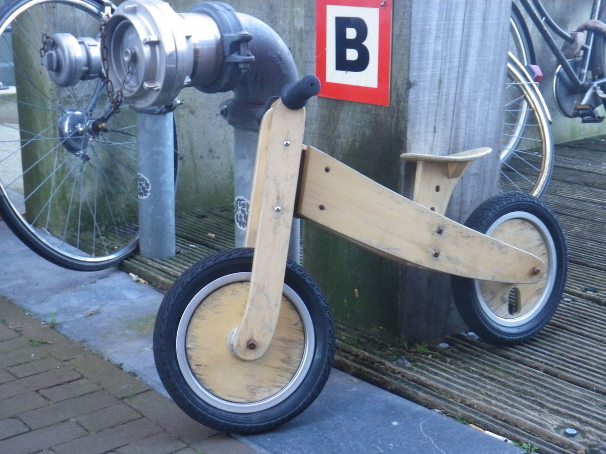 Bicycle Close-up Day Mini Bicycle No People Outdoors Transportation Wooden Bike