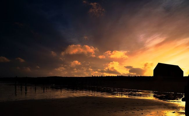 Lifeboat Station... Lifeboat Sillouette Sunset Silhouettes Super Sunsets East Sussex Mary Stanford england Blue Sky