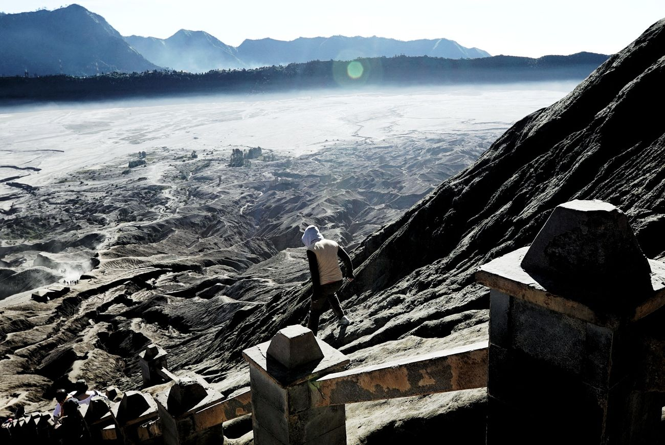 Mount Bromo Nature Landscape Beauty In Nature Crater People Outdoors Mountain Day Volcanoes Shadow Sonya7m2 16-35mm F/2.8 Live For The Story The Photojournalist - 2017 EyeEm Awards Life For The Story