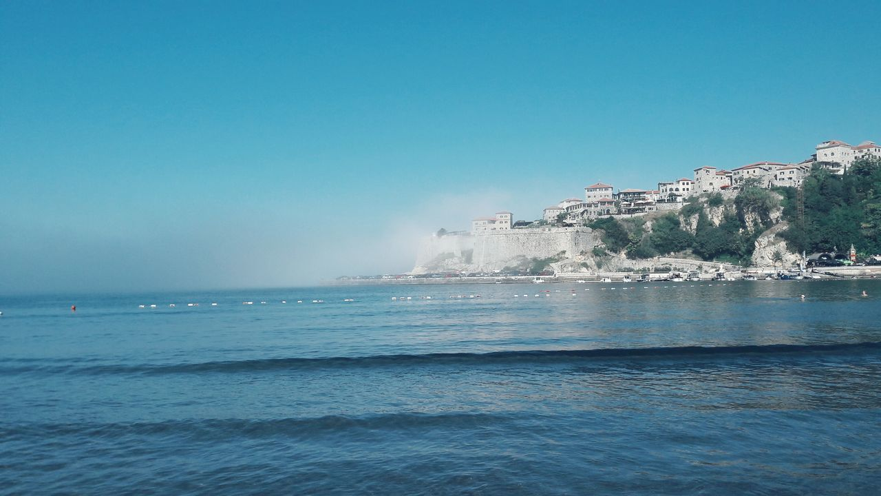 Battle Of The Cities Water Sea Blue Horizon Over Water Waterfront Scenics Beauty In Nature Non-urban Scene Sky Seascape Day Nature Outdoors Vacations Splashing Tranquility EyeEm City Ulcinj Followme Hi! Great View Ocean Fog Over Water