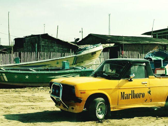 Malrboro Car CrucitaBeach Malecon Beach Time Crucita Ecuador♥ Añonuevo
