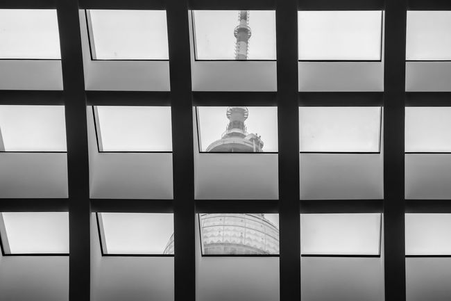 Blinds Fernsehturm Full Frame Geometric Shape Glass - Material Indoors  No People Television Tower Transparent TV Tower Window Window Frame
