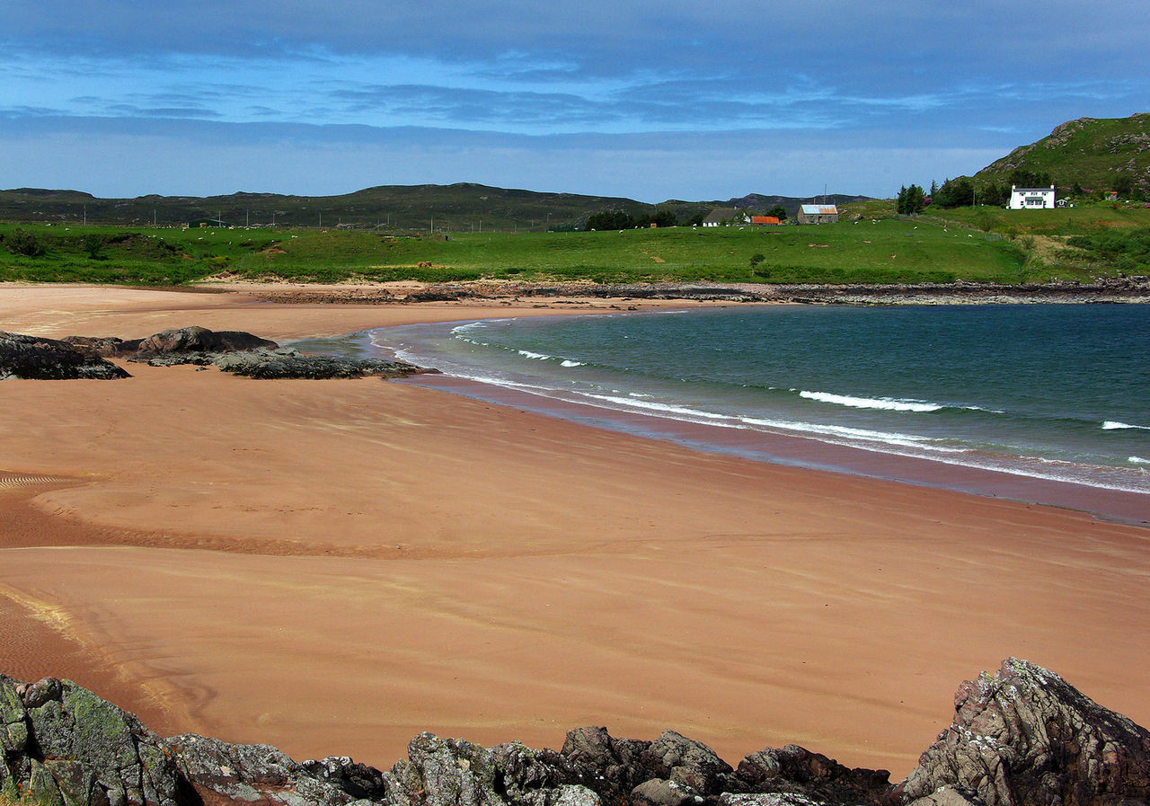 Inverasdale Beach Beach Cloud - Sky Day Firemore Beach Horizon Over Water Inverasdale Loch Ewe Nature No People Outdoors Poolewe Rocks And Water Sand Scottish Highlands Sea Seaside Sky Travel Destinations Water Waves Wester Ross