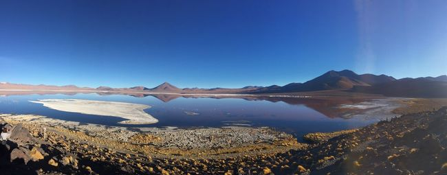 NEM Landscapes Landscape_Collection Lagoon Flaming_rust Volcano Volcanic Landscape Pink Flamingos Laguna Colorada Bolivia