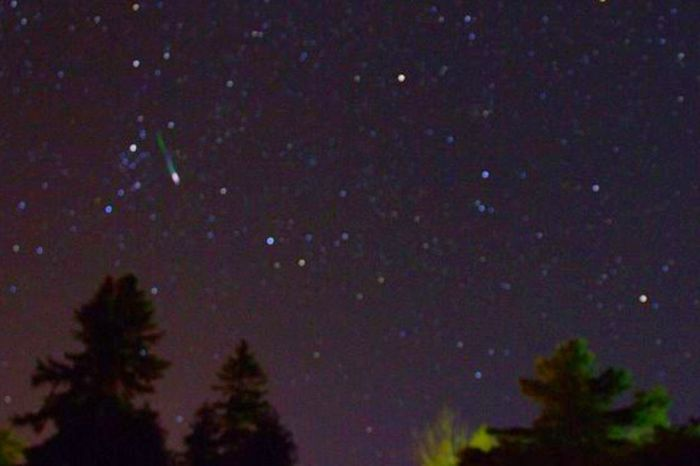 Perseids Meteor. 3 pics of almost 180 images. bad battering average Perseid Meteor Shower Nightphotography