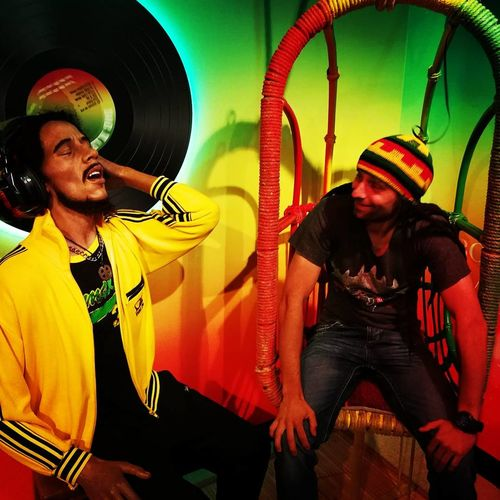 Two People Men Bob Marley Wax Figure Madame Tussauds Amsterdam Travel