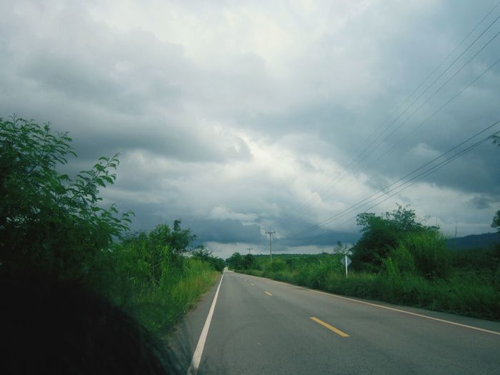 Good 9 with the sky at my hometown ;) Happy :) Sky And Clouds Goodnight Thailand Hello World