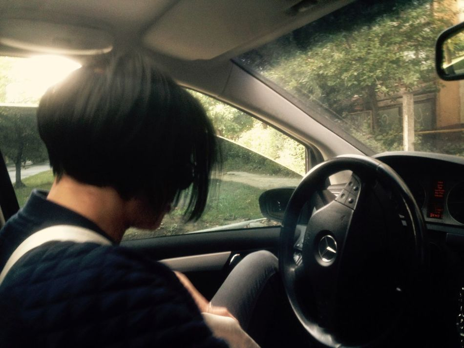 Woman Beauty In Nature Girl In Car