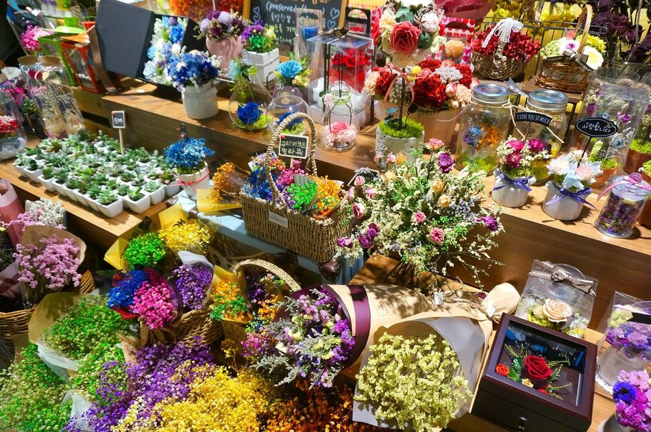 Multi Colored For Sale Retail  Variation High Angle View Choice Small Business Market Abundance Large Group Of Objects Outdoors No People Day Store Arrangement Nature Flower Shop Flower Freshness Beauty In Nature Art Is Everywhere