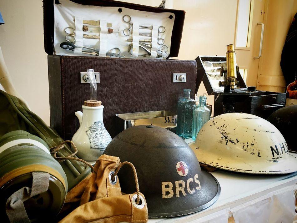 End of an Era Exhibition Exhibition Helmets Hospital Hospital Objects War War Memorabilia Whitchurch Hospital