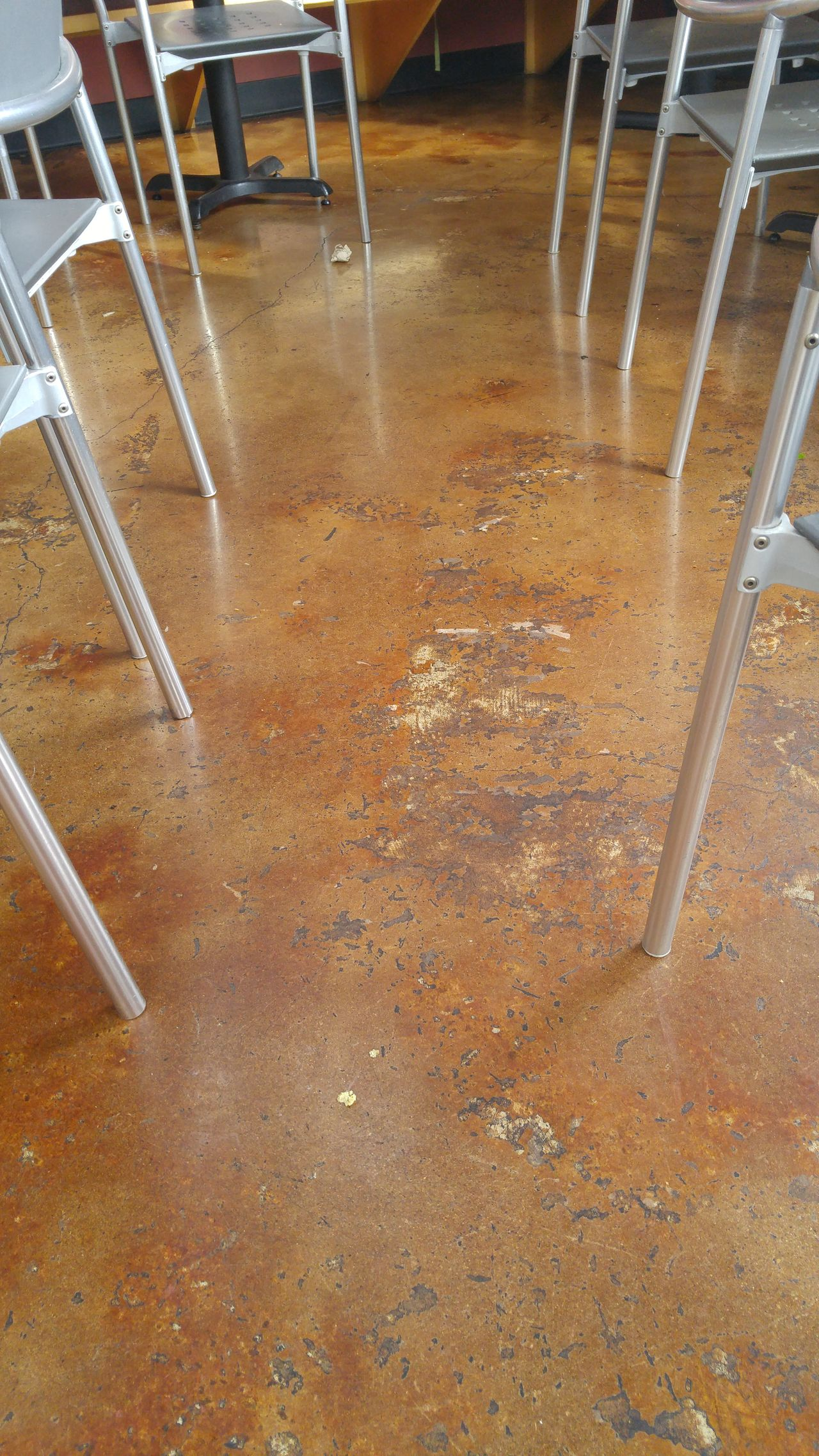 Abstract Tables And Chairs Concrete Concrete Floor Aluminium Restaurant Aluminum Chairs Modern Rustic The Week On EyeEm