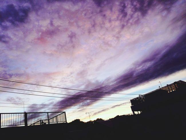 最近夕焼け綺麗ですね😁 夕焼け