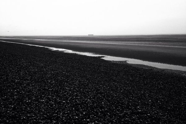blackandwhite at Greatstone Beach by MPerson