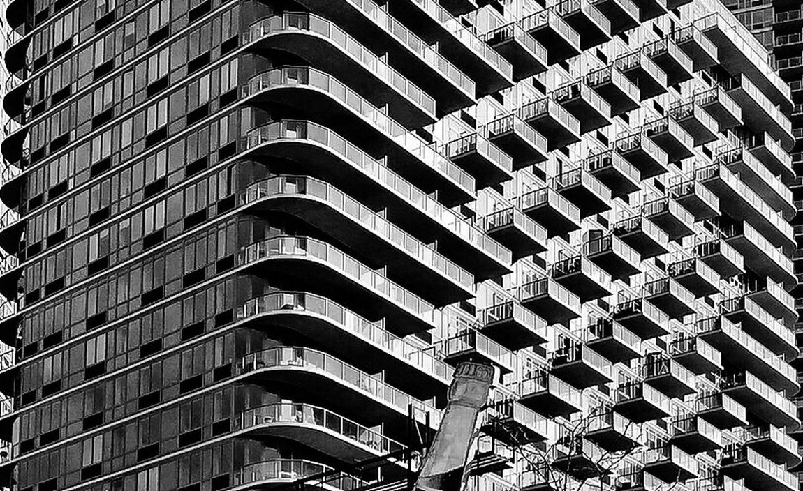 Architecture Repetition Built Structure In A Row Architectural Feature Full Frame Modern Pattern Building Exterior Low Angle View No People Outdoors Day City Futuristic Obsessed Urban Geometry Urban Lifestyle Blackandwhite Lines And Shapes Longislandcity Apartment Architecture