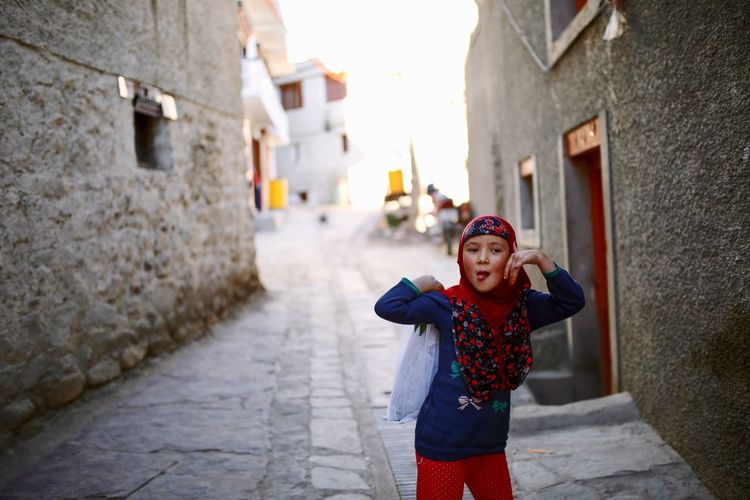 Connected By Travel Leh Ladakh.. Expression Local Girl Interactions Streetphotography Enjoyment Exploration New People