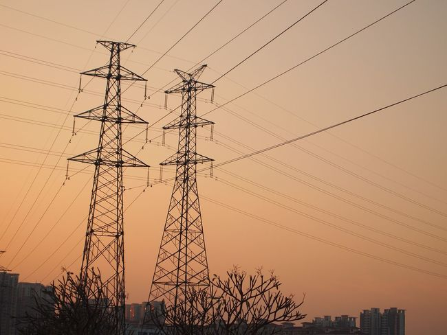 Electricity Pylon Cable Electricity  Sunset Connection Power Line  Low Angle View Power Supply No People Silhouette Clear Sky Outdoors Fuel And Power Generation Built Structure Technology Architecture Sky Day Nature