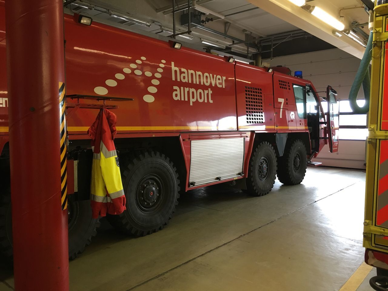 Fire Engine Mode Of Transport Transportation Land Vehicle Occupation Men Real People Firefighter Working Service Day Outdoors People