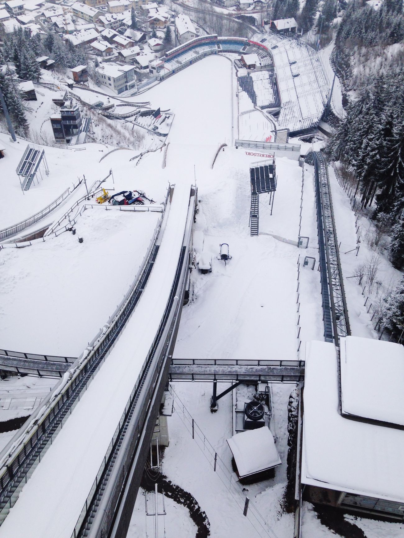 Germany From The Rooftop Snow Obersdorf