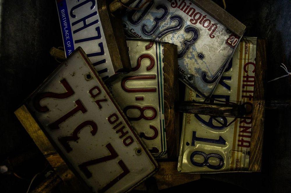 Dark License Plate License Plates Ohio Washington