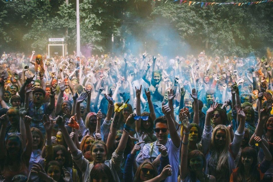 Beautiful stock photos of group, Celebration, Color, Crowd, Dancing