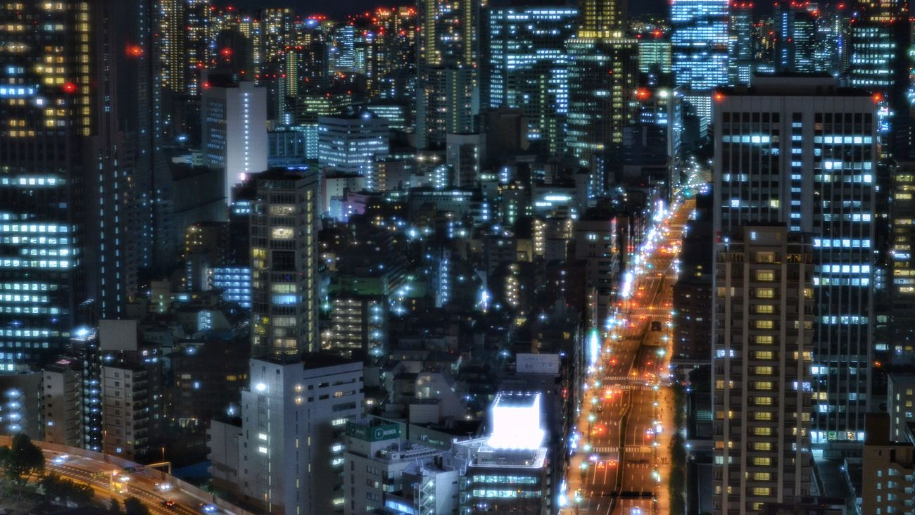 東京タワー展望台から View From The Window Observatory Tokyo Tower Night Photography From My Point Of View Night Lights Night Road Night City City Lights At Night Buildings Geometric Shapes Light And Shadow Tokyo Night City View Night Cityscape Tokyo,Japan January 2017