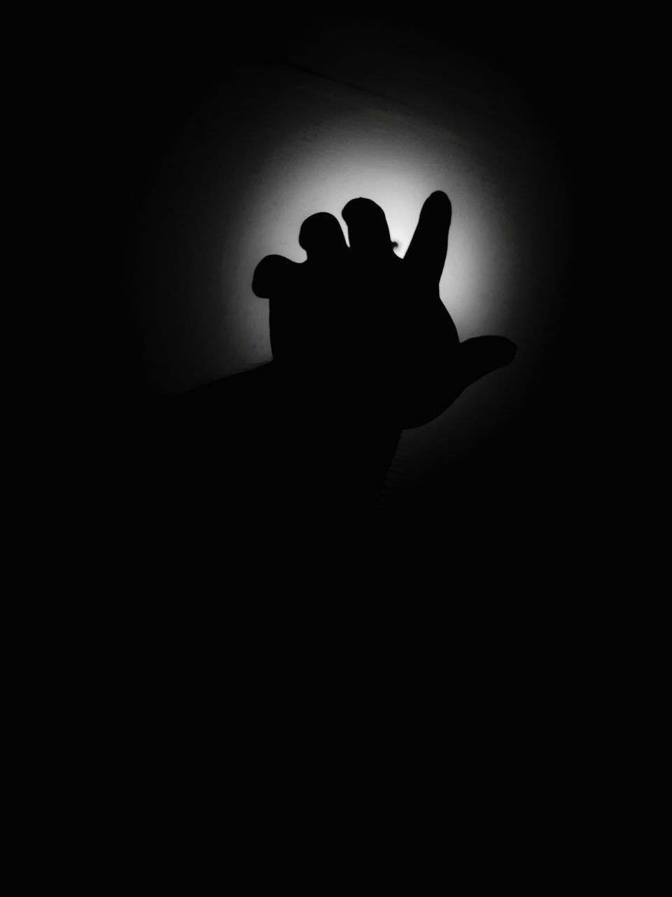 silhouette, human hand, indoors, one person, human body part, close-up, day, people