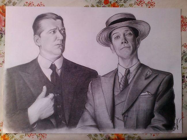 Jeeves And Wooster Stephen Fry Hugh Laurie Art Сегодняшнее мое.