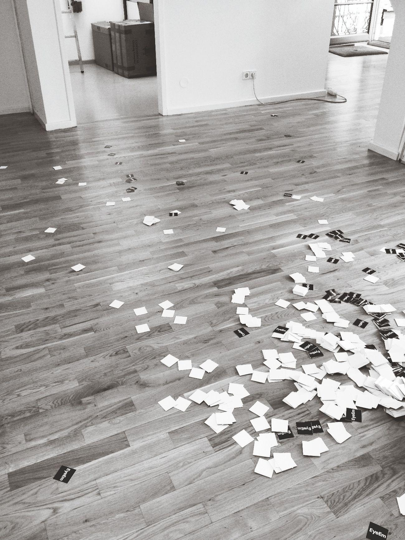 I dropped a whole box of stickers. FML