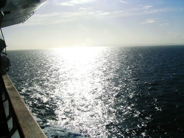Sea On The Ship From England back to Germany !