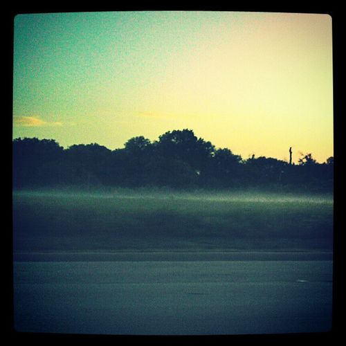 The Fog... Fog Road Drive Morning Before7am Day Driving Yellow Blue Sun Sky Outside Enjoy Love Texas Grandprairie Latergram