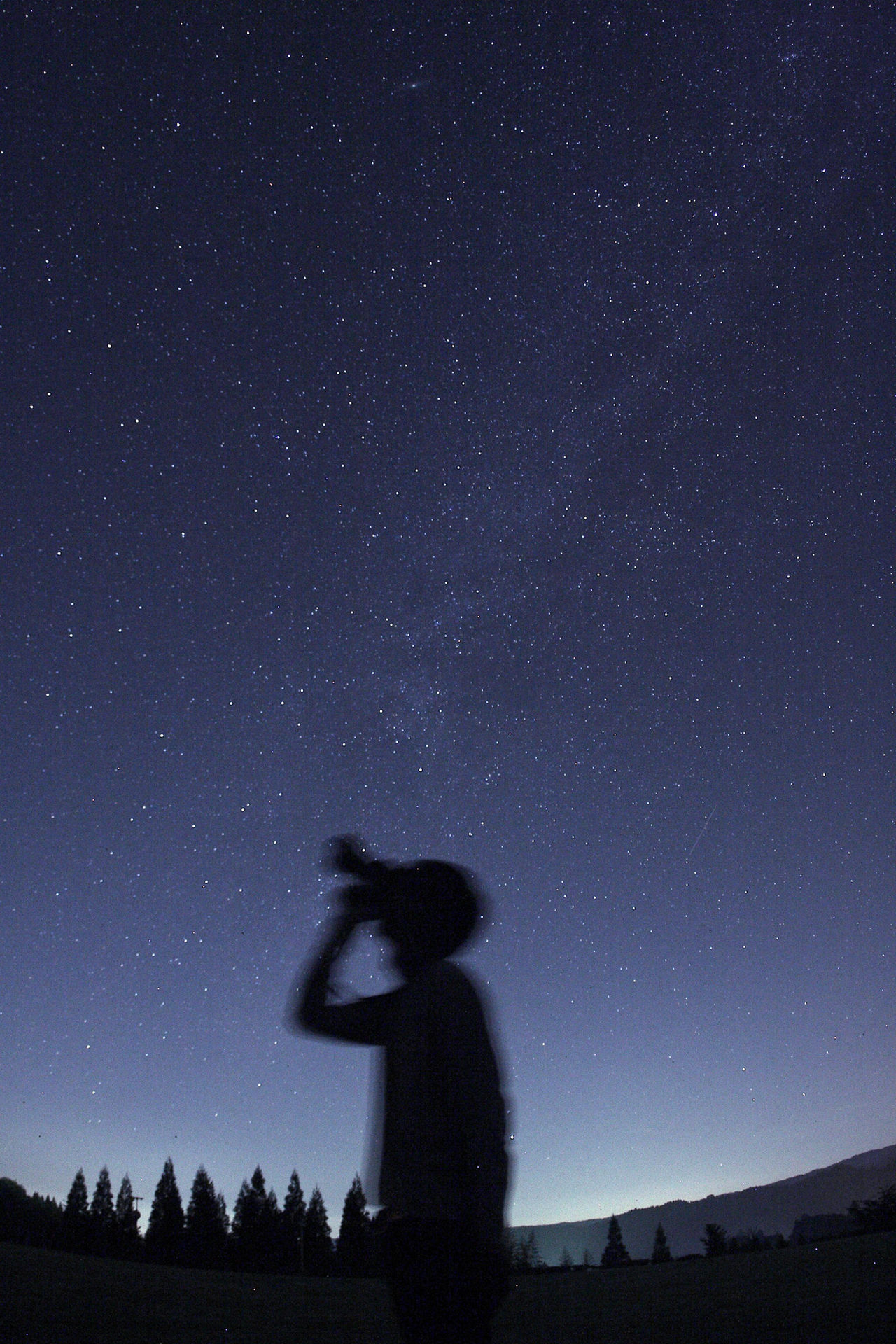 好きです写真 EyeEm Nature Lover Astrophotography Milkyway Summer Views Silhouette 星が多すぎて夏の大三角形が分からなかった… 2015夏 バッテリー忘れたStarry Nightに フィルターかけると迷うからスッピン Sky_collection 🍙グッド Self Portrait Around The World My Best Photo 2015