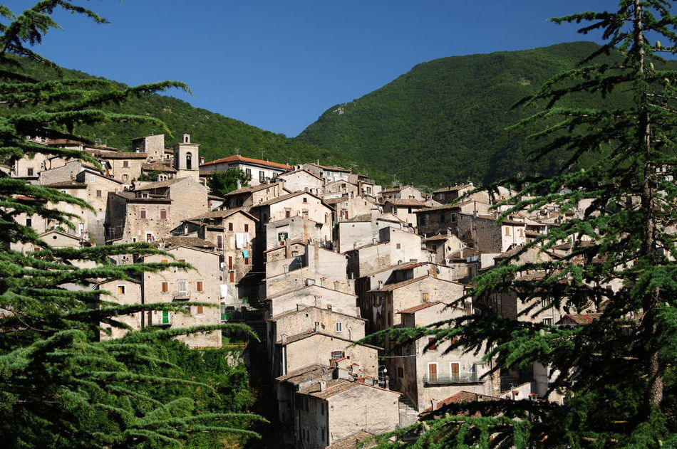Abruzzo - Italy Ancient Architecture Apennines Architecture House Mainarde Molise Mountain Park, Place Scanno Small Town Tree Village