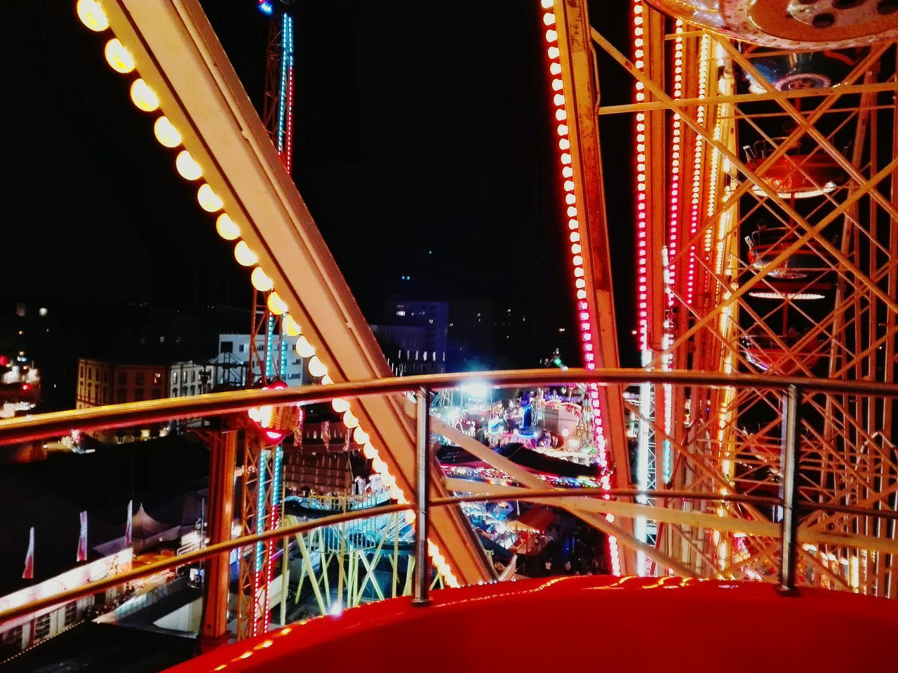 Funtimes Good Times At Night🌙 Colourful Colourmehappy Big Wheel Big Wheels Weekend Activities Capture The Moment City Lights Night Lights Night View