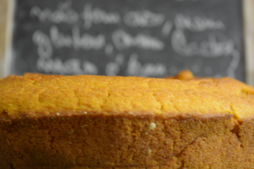 Showing Imperfection Cake Close-up Blurry Background Chalk Board Handmade For You
