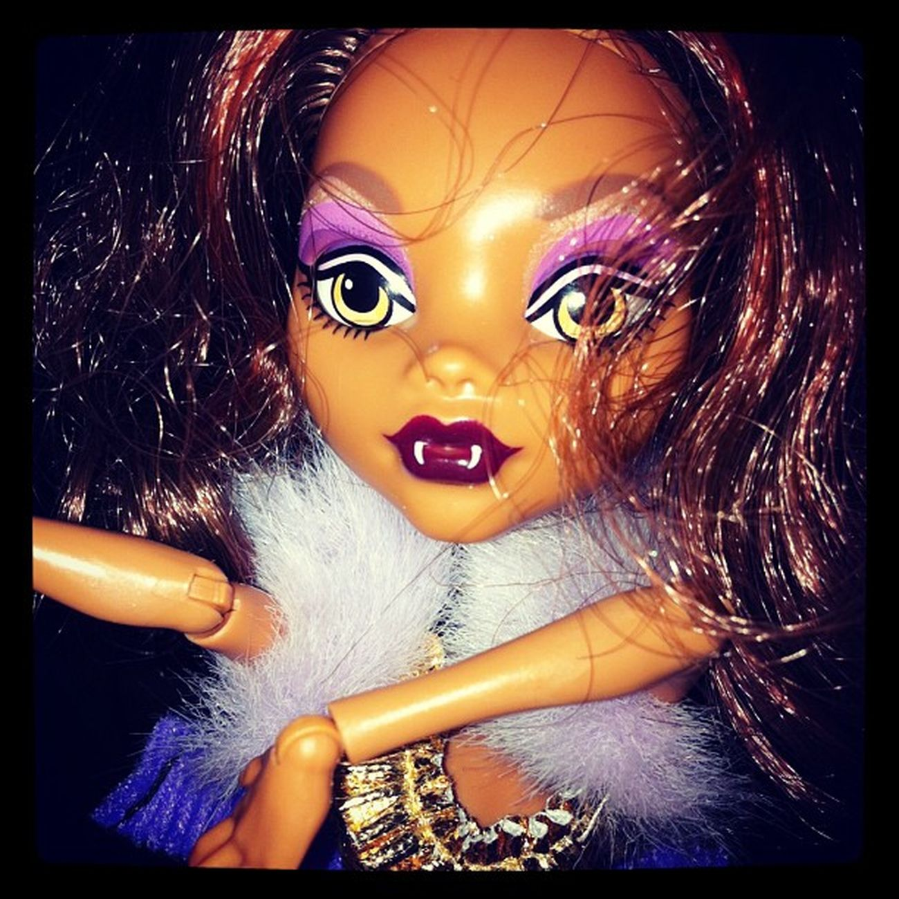 Jaden wanted me to take a pic of her Clawdeenwolf doll! Monsterhigh