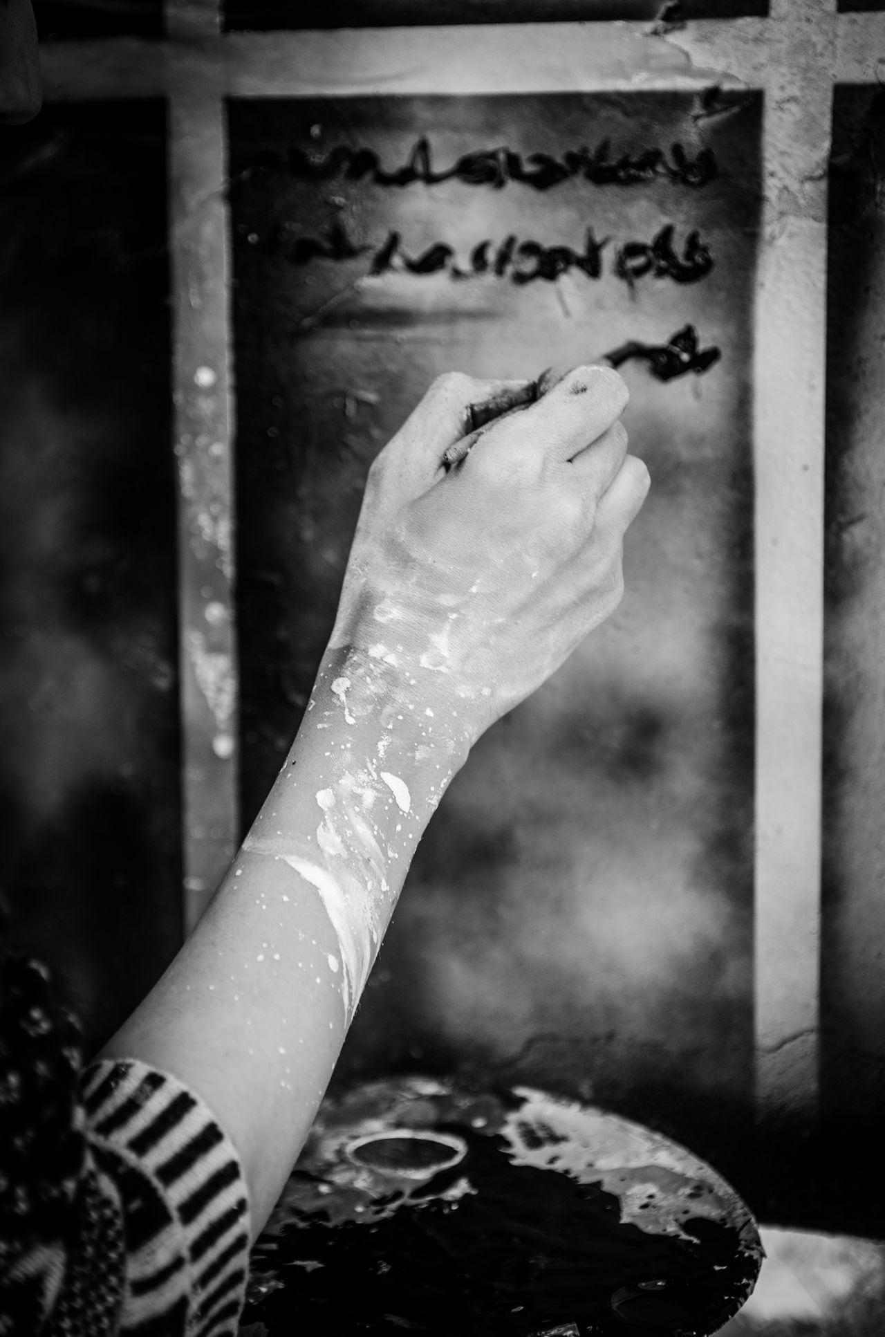 words are the colors of life Black & White Blackandwhite Expression Hand Paint Painter Writing Writing On The Walls EyeEmNewHere.