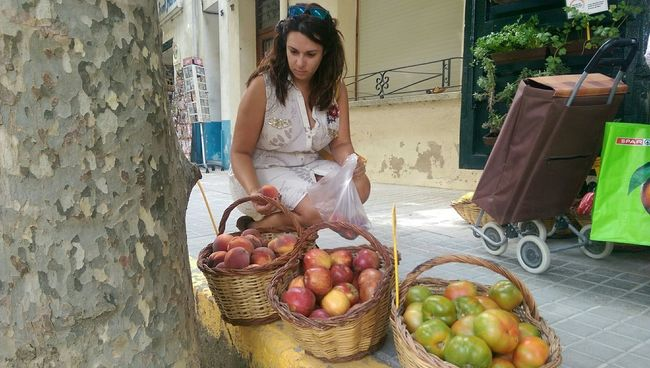 Fresh Fruits Market Town Saroide
