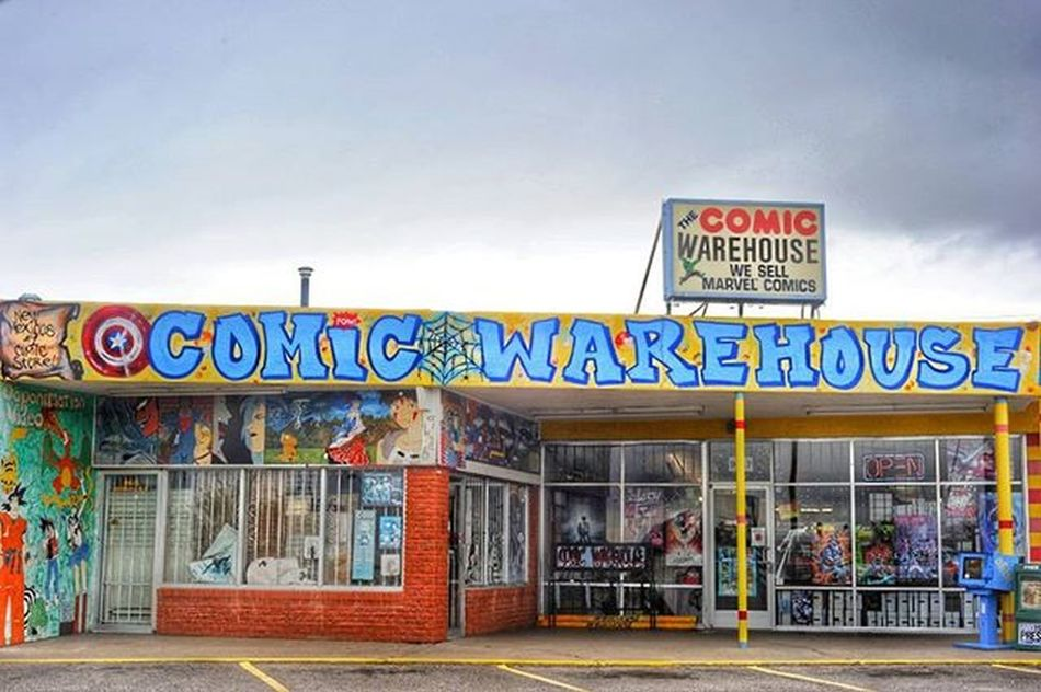 Comic Warehouse in Albuquerque, New Mexico. Processed with Snapseed Comics Streetphotography Photography DSLR Nikon D700