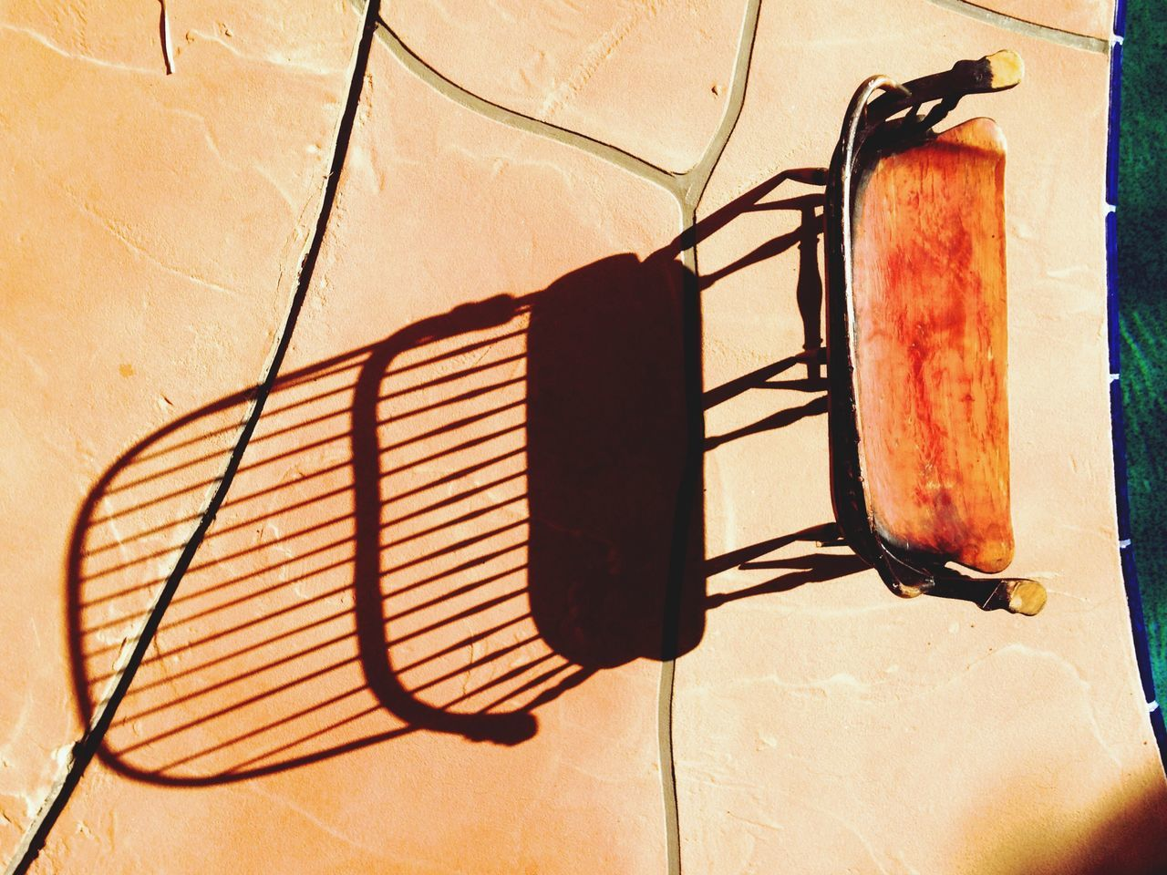 Empty Chair By Poolside