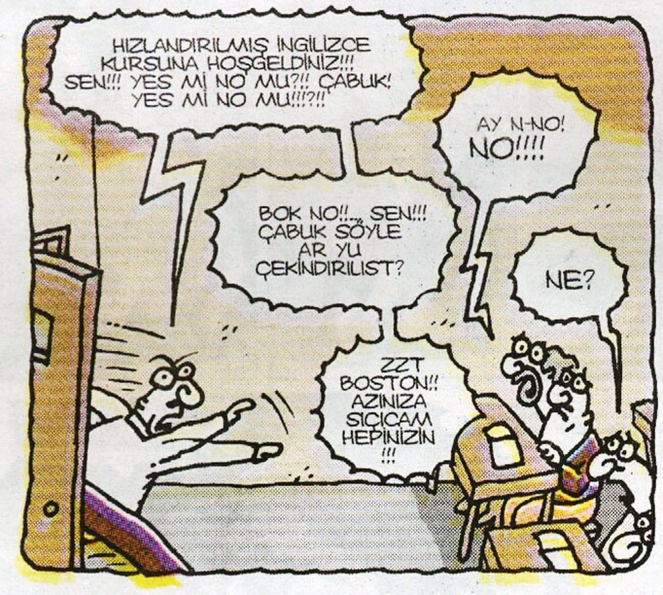 Buna hep gulmusumdur :))) Karikatur IngilizceBitti 😄😄 Bolkahkahalı