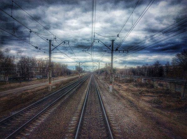 Composition Connection Diminishing Perspective High Angle View Journey Leading Long Narrow No People Perspective Public Transportation Rail Transportation Railroad Track Railway Track Speed Straight The Way Forward Transportation Vanishing Point Outcast Traveling Home For The Holidays