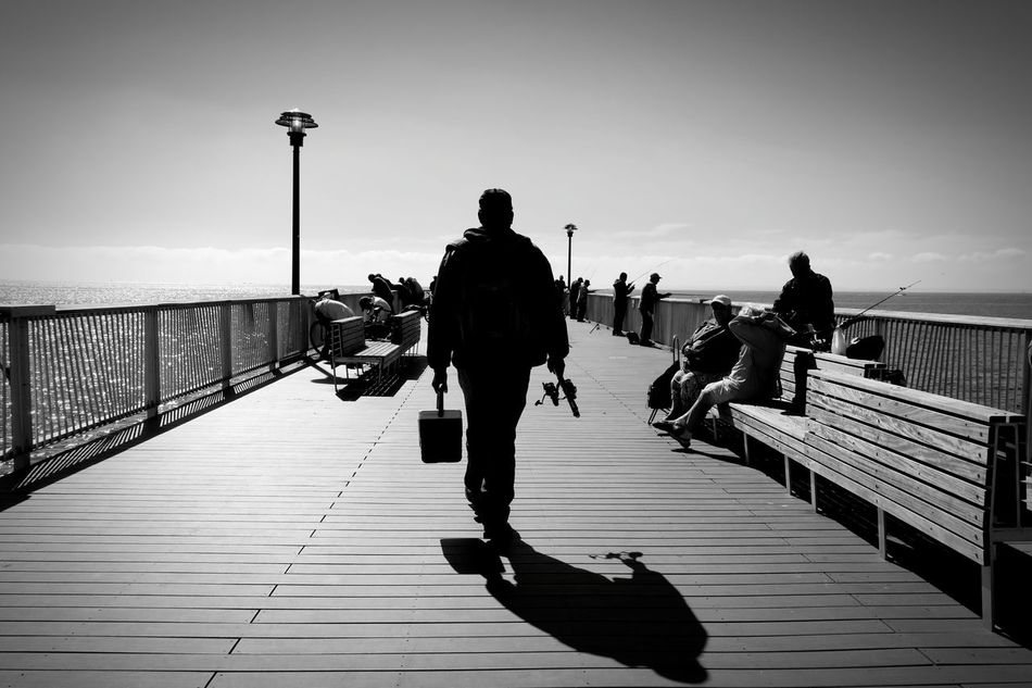 Bridge - Man Made Structure City Black & White Seascape Fishing Time Fishing Man The City Light Welcome To Black
