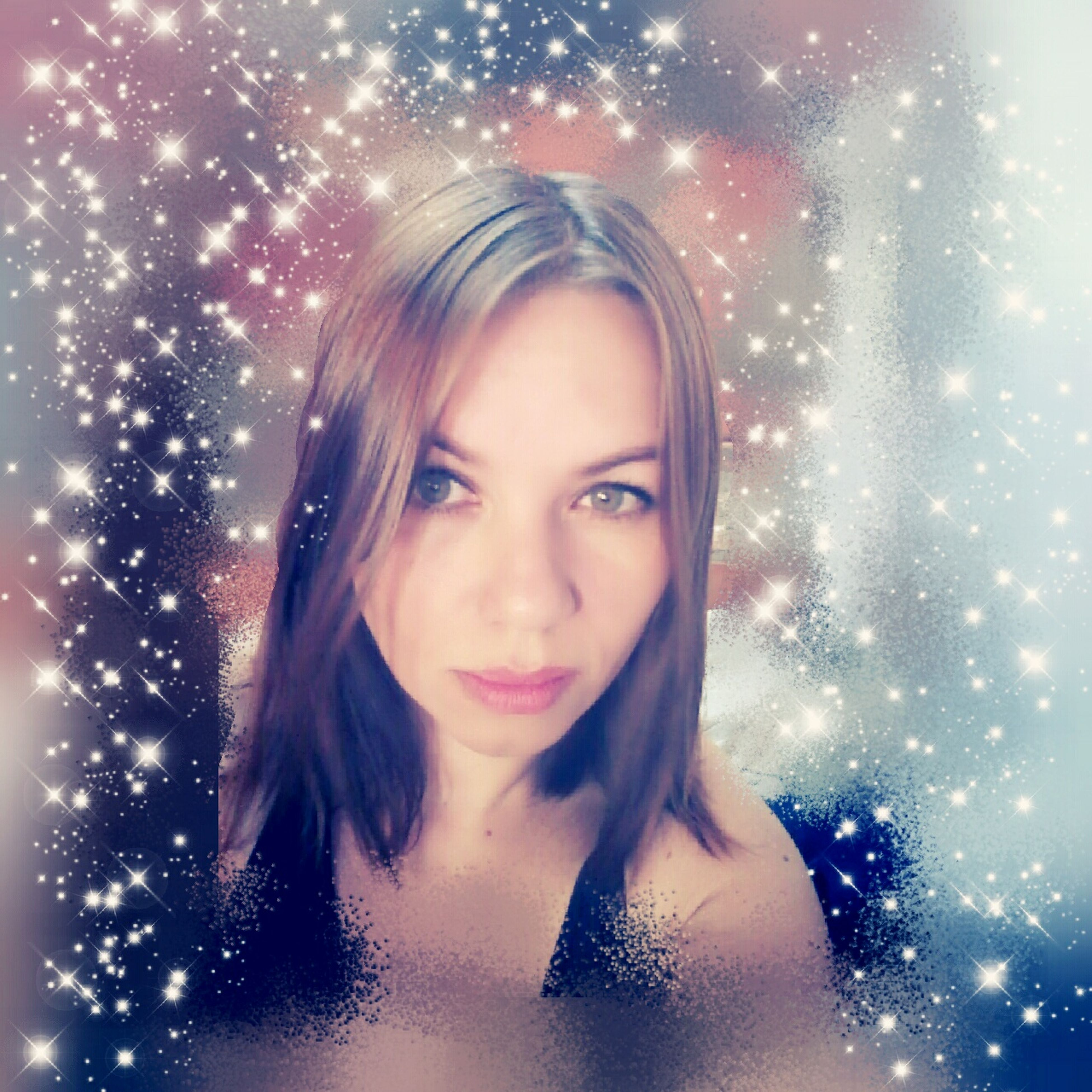 portrait, looking at camera, beautiful woman, one person, studio shot, young adult, headshot, front view, blue eyes, beauty, smiling, blond hair, snowflake, glitter, snowing, beautiful people, snow, close-up, happiness, christmas, real people, night, cold temperature, cheerful, indoors, young women, adult, people, adults only