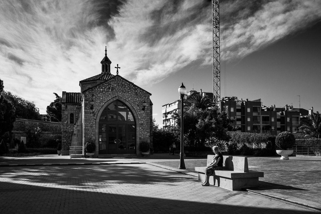 Someone up there. Church Cloud Religion Sky Spirituality Streetphotography Waves Fujifilm XF23mmf1.4