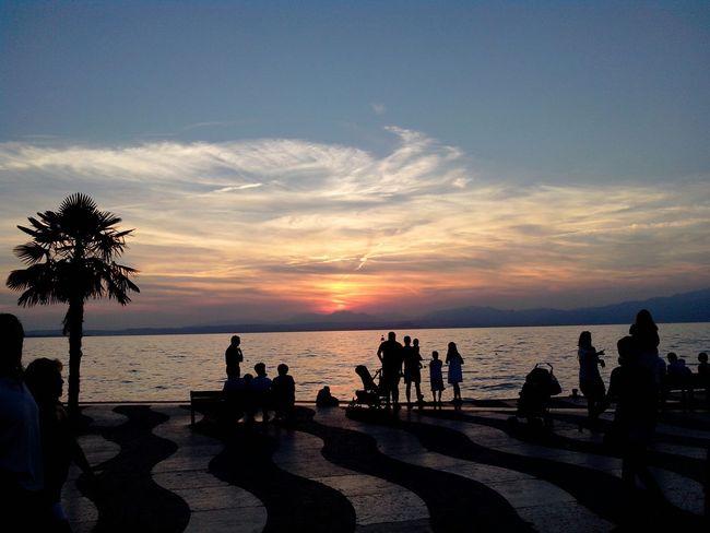 Urlaub ❤ Schöner Abend Mit Der Familie Italien Sonnenuntergang