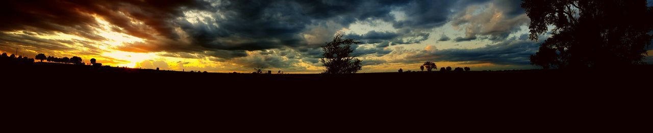 sunset, silhouette, sky, nature, beauty in nature, cloud - sky, tranquil scene, scenics, tranquility, landscape, tree, no people, outdoors, day