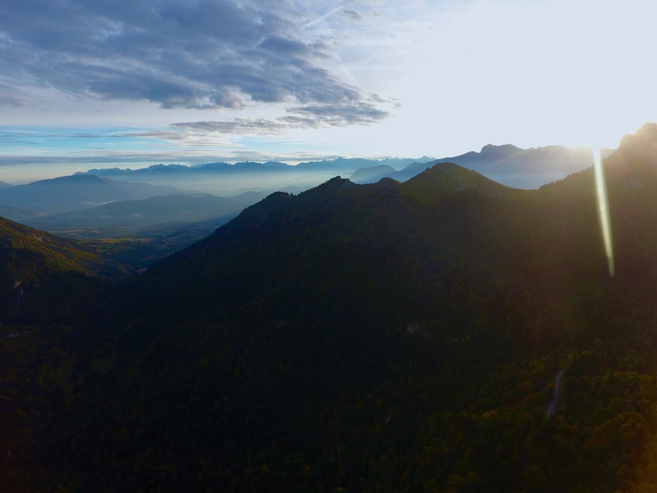 Lost In The Landscape Dji DJI Phantom 4 Dji Phantom Phantom 4 Mountain Beauty In Nature Sky Nature Tranquility Tranquil Scene Scenics Sunlight Landscape Mountain Range No People Day Outdoors Drone  Dronephotography Drone View