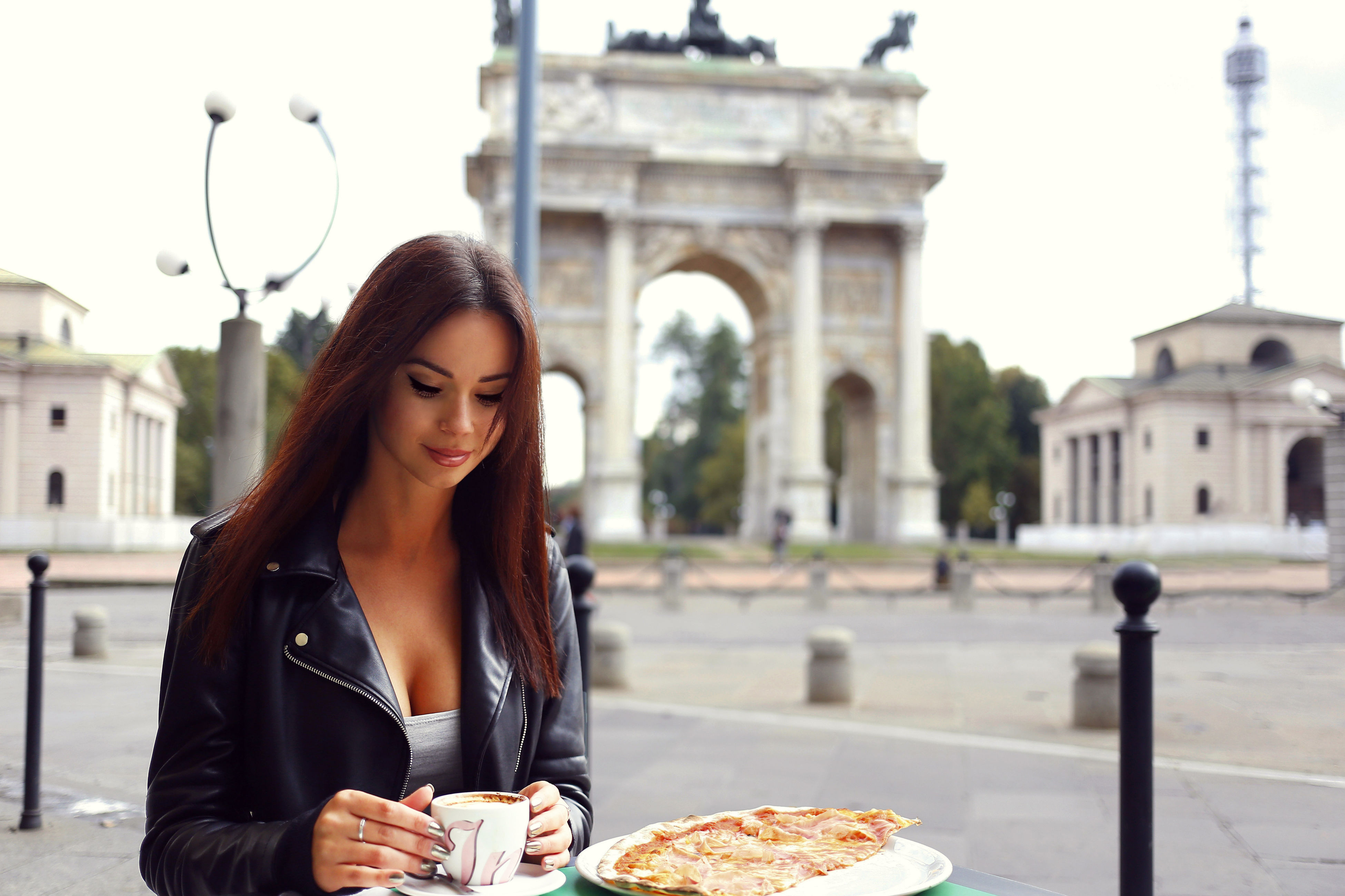 Anna Mour Arch Of Peace Architecture Architecture Beautiful People City City Life Coffee Italy Lifestyles Milano One Person One Woman Only One Young Woman Only Only Women Outdoors People Tourism Tourist Travel Travel Destinations Vacations Women Young Adult Young Women