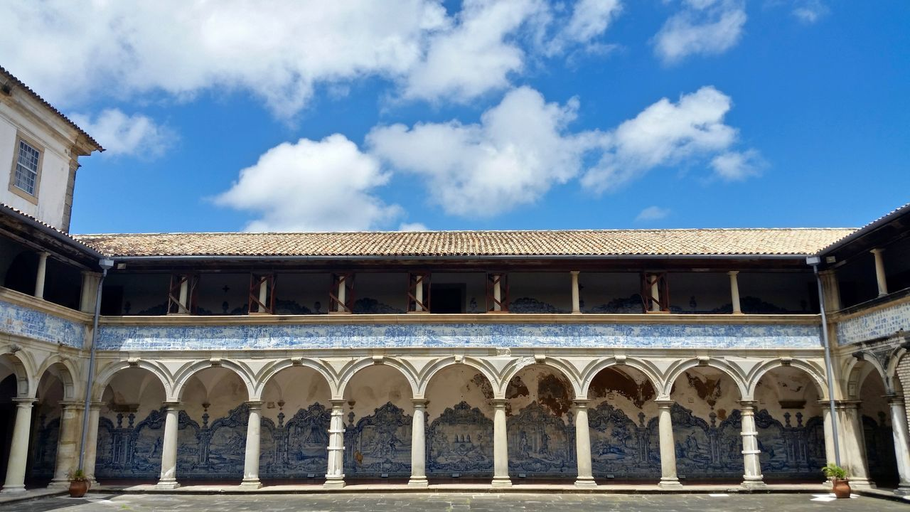 Architectural Column Architecture Bahia Blue Sky Branch Building Exterior Built Structure Church Cloister Monastery No People Outdoors Pillars Salvador Sky