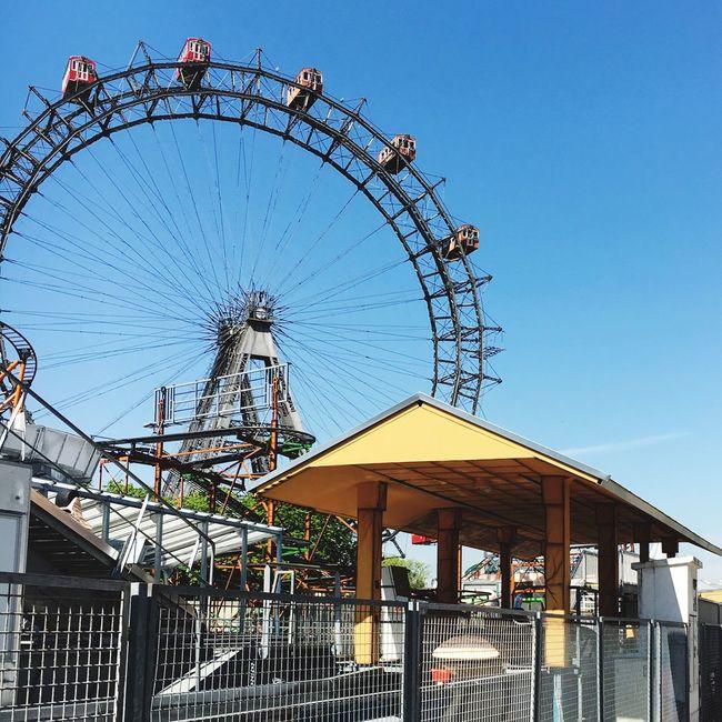 Vienna Ferris Wheel Blue Sky Prater Springtime
